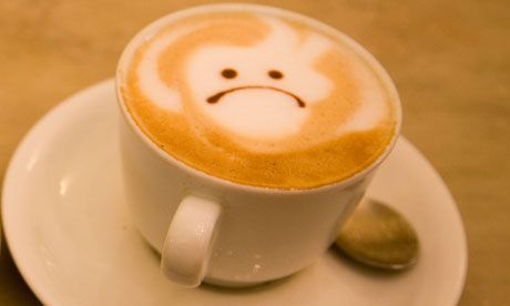 sad cappuccino frown