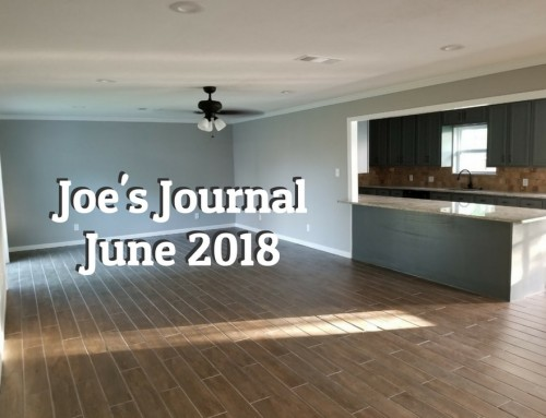 Joe's Journal – June 2018
