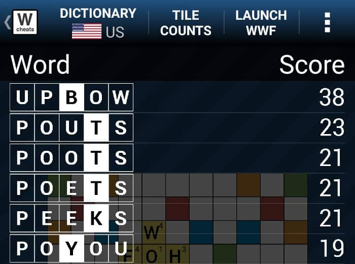 blog my brain words with friends cheat board