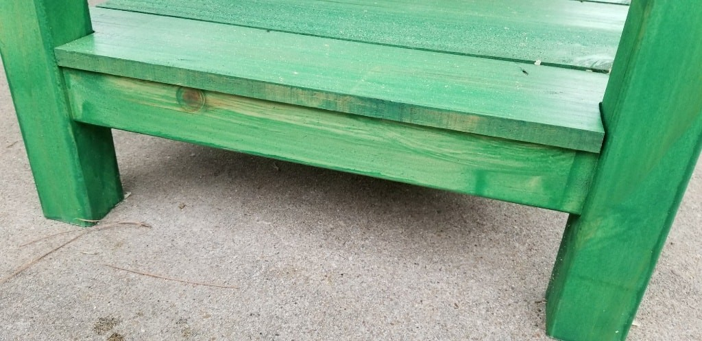 green sofa table