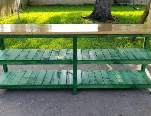 Rustic Green Sofa Table from Reclaimed Wood – 100″ x 37″ x 22″