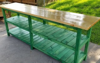 Rustic Green Sofa Table from Reclaimed Wood