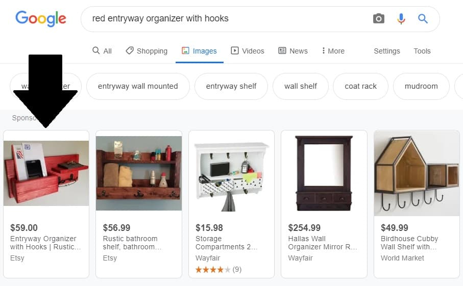 Is Etsy Google Shopping Worth It - Google results